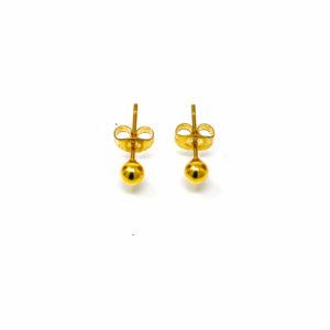 Boucles d oreilles acier doré 4mm-4