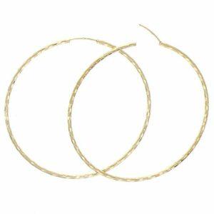 Boucles d'oreilles Plaqué Or Fantaisie 70mm