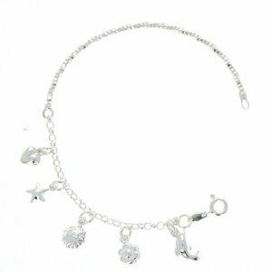 Bracelet jonc breloques 925/1000 6,49g