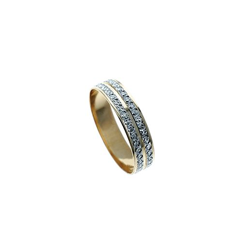Alliance-2-Rangs-Bicolore-5mm-18-carats