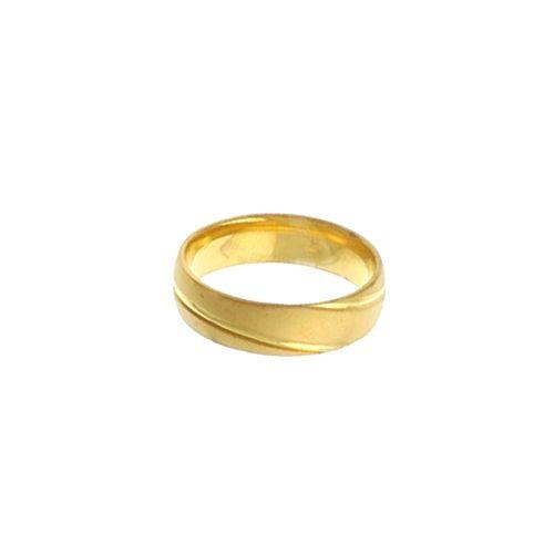 Bague Acier doré Alliance 6mm 2