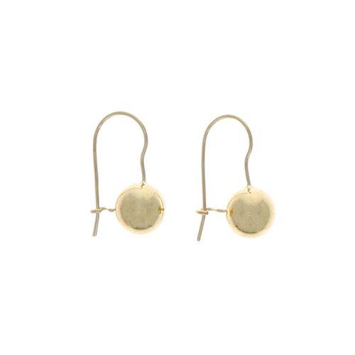 Boucles d'oreilles Plaqué Or Dormeuse Boules 10mm 2