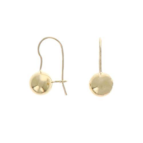 Boucles d'oreilles Plaqué Or Dormeuse Boules 10mm