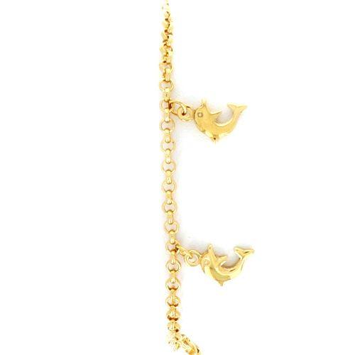 Bracelet Breloques Dauphin 18.5cm