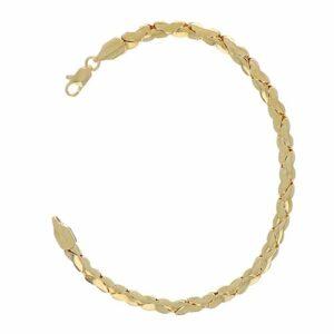 Bracelet Plaqué Or Maille Fantaisie 22cm