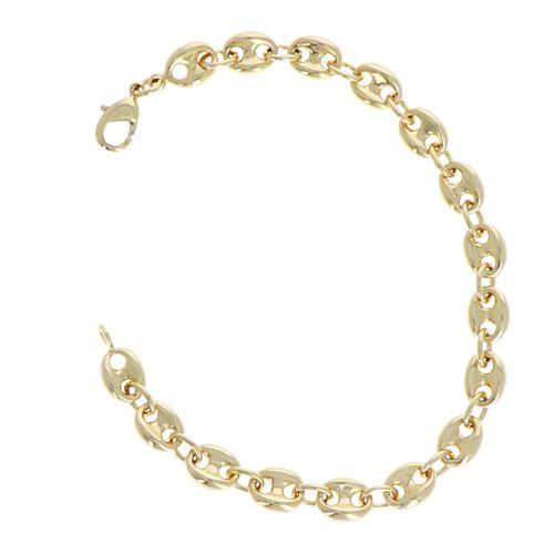Bracelet Plaqué Or Mailles Café 19cm