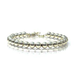 Bracelet grain argent 6MM 18+3CM-2-min