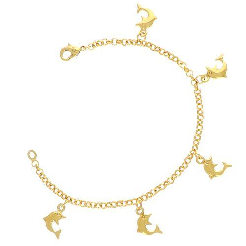 Bracelets Breloques dauphin 18.5cm