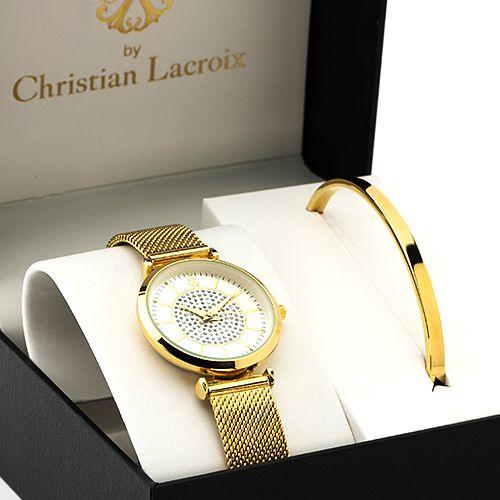 Coffret Montre et Bracelet Femme Acier doré Christian Lacroix CXL_CO