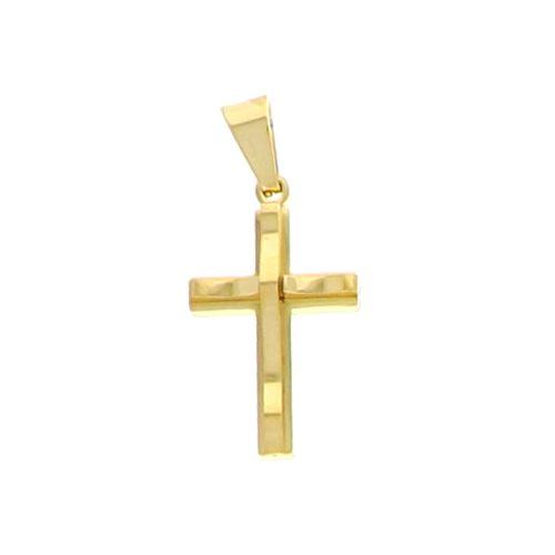 Croix Acier Doré 30x20mm