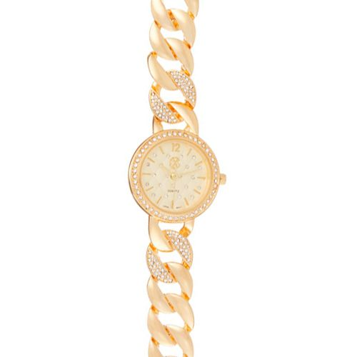 Montre Acier Dorée Christian Lacroix Bracelet Cadran Oz CXLS18079