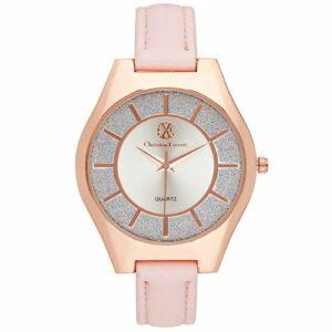 Montre Acier Dorée Christian Lacroix Bracelet Rose CXLS18044