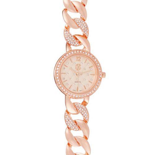 Montre Femme Acier doré Christian Lacroix Rose Cadran et Bracelet Oz CXLS18080