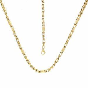 Parure Acier doré Collier Bracelet 60cm 22cm