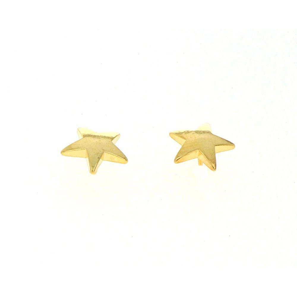 Boucles d'oreilles Acier Doré étoile 10mm 2