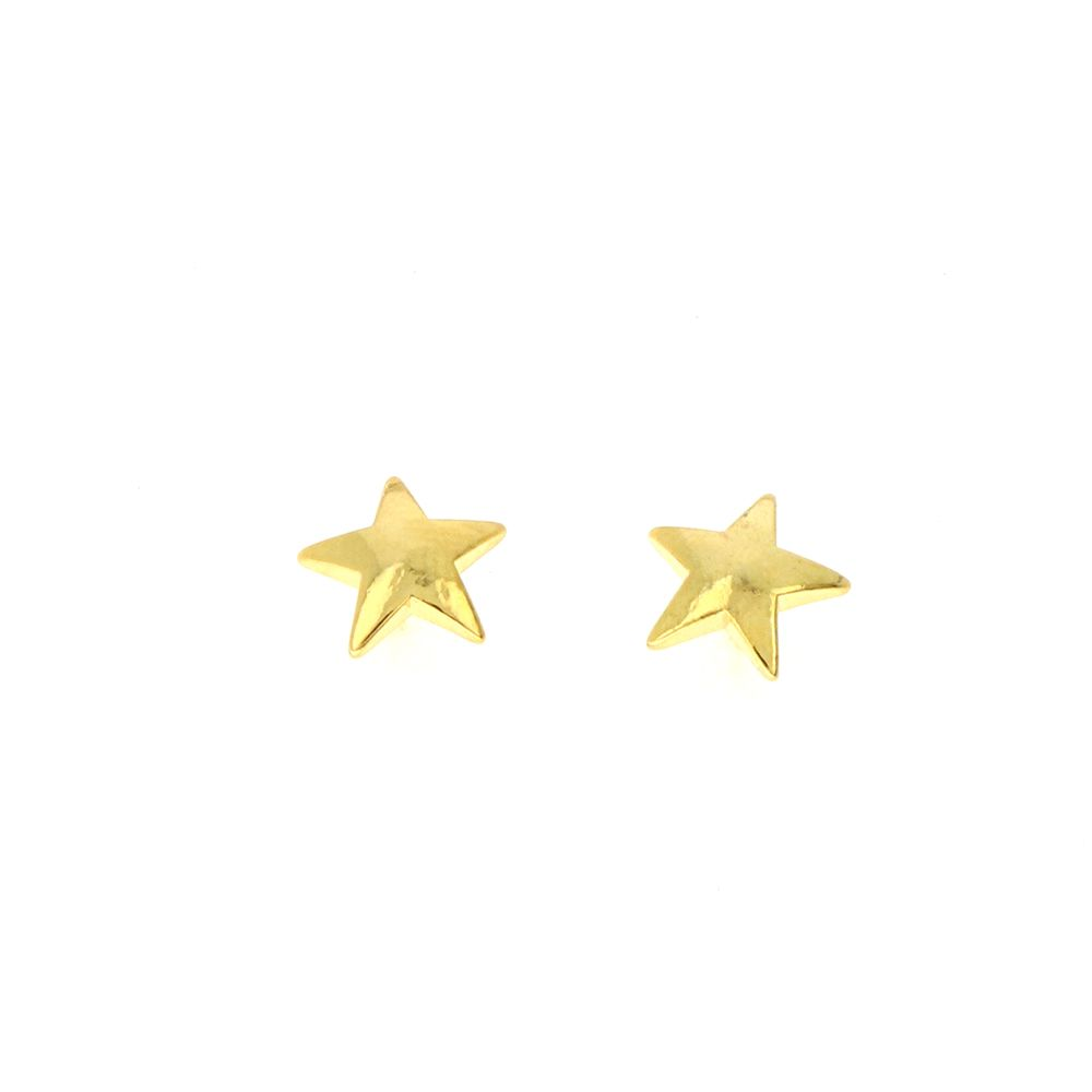 Boucles d'oreilles Acier Doré étoile 10mm