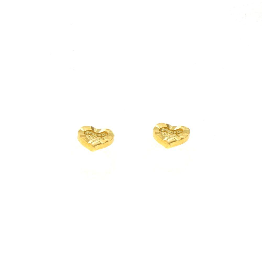 Boucles d'oreilles acier doré coeur