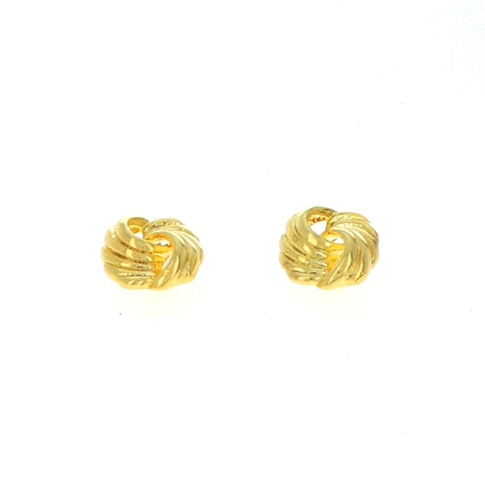 Boucles d'oreilles acier doré entrelacée 10mm 2