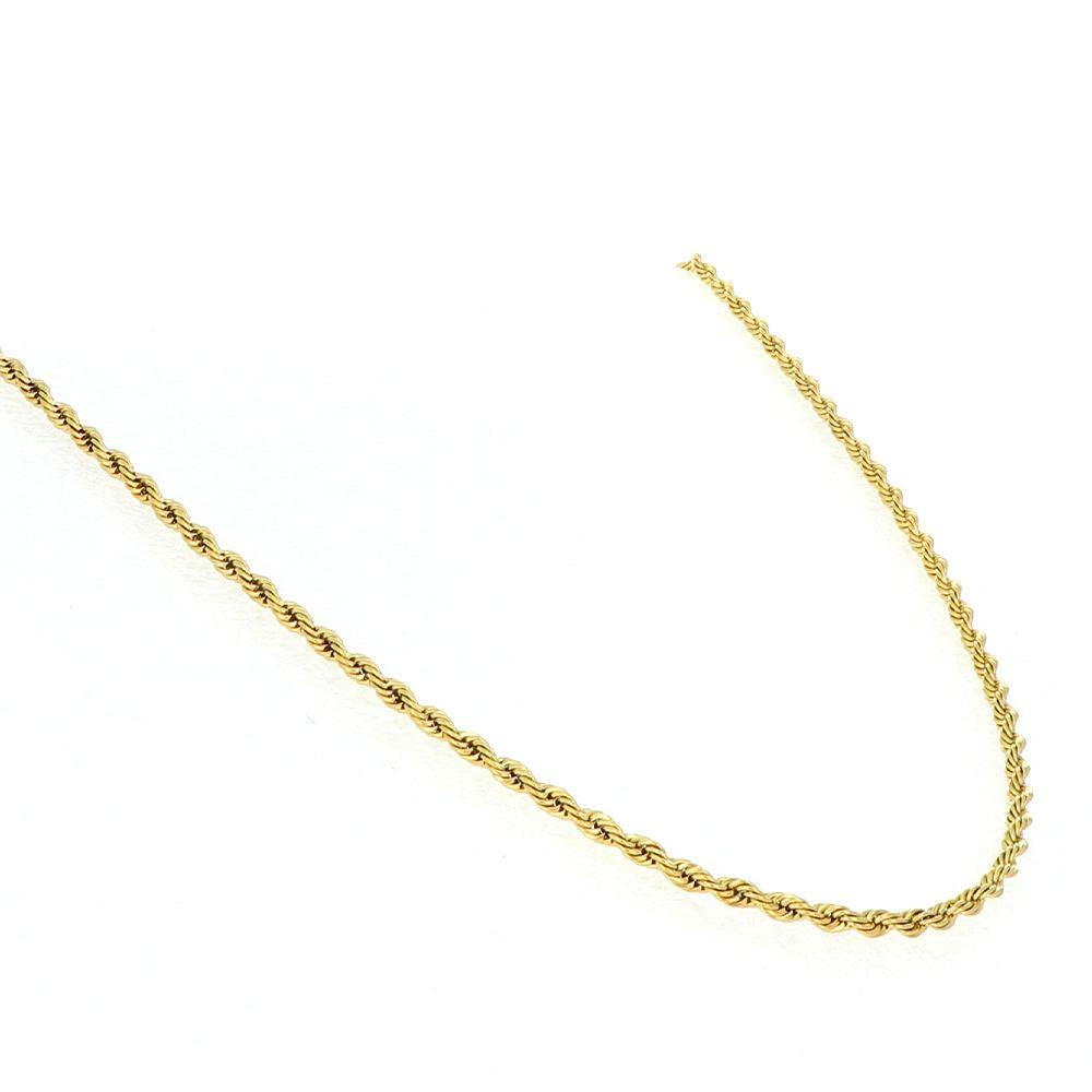 Collier torsadé acier doré Ø 3mm L45 cm 1