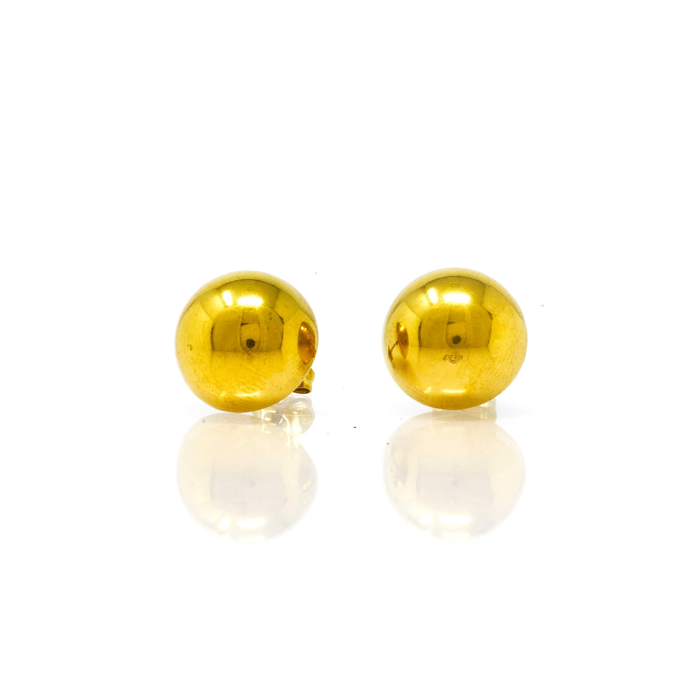 Demi boule acier doré 14 MM-3-min