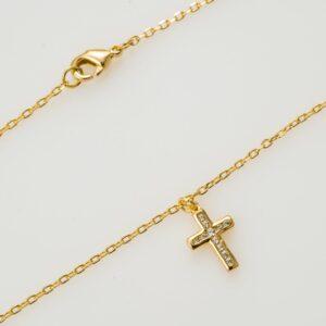103 P470063 chevillere croix zircon 26mm