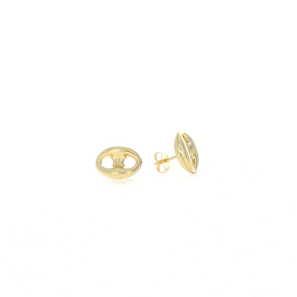 Boucles d'oreilles 18K Boucles Grain Café 9.5x12.5mm 2