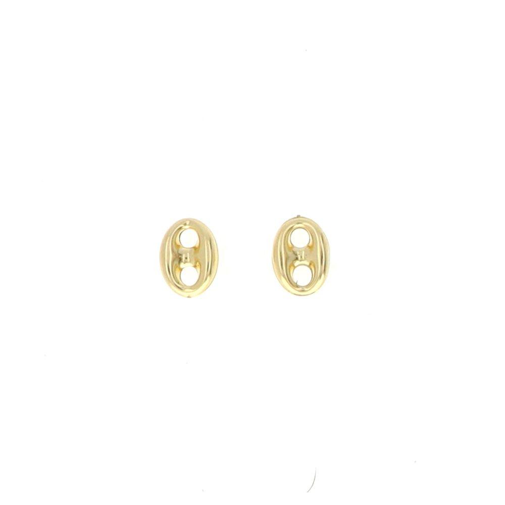 Boucles d'oreilles 18K Boucles Grain Café 9.5x12.5mm
