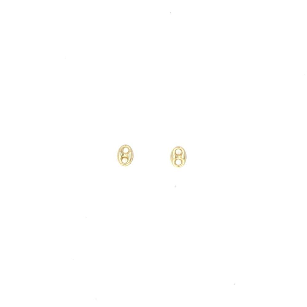 Boucles d'oreilles 18k Boucles grain de café 4x5.3mm