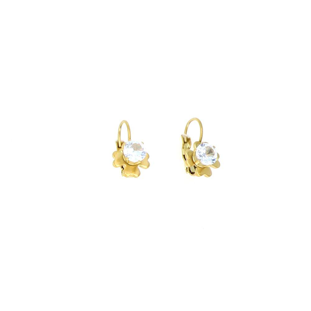 Boucles d'oreilles Acier doré Fleur Oz Central 3
