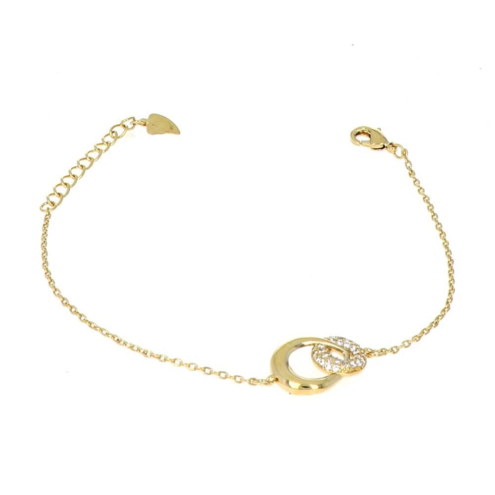 Bracelet Plaqué Or Cercle oxydes