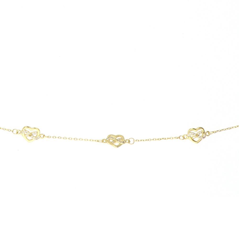 Bracelet Plaqué Or Coeur Or infini 2