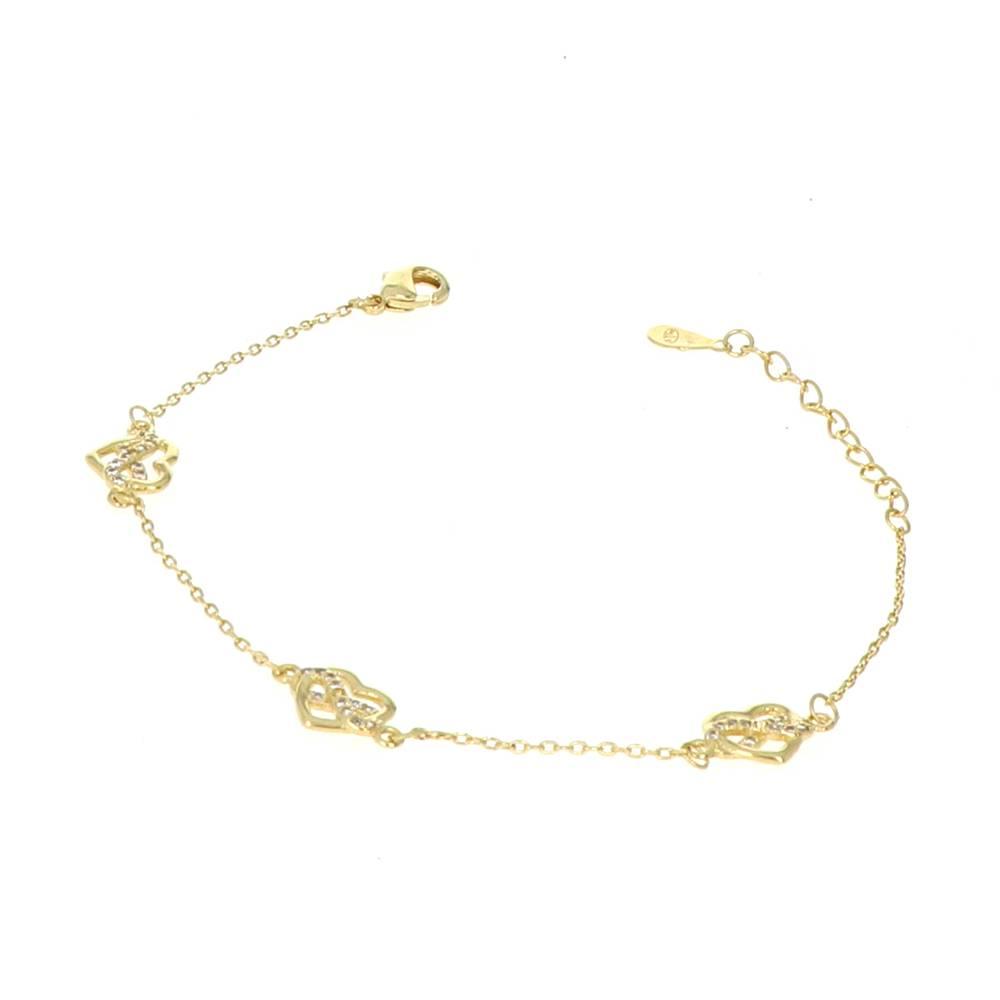 Bracelet Plaqué Or Coeur Or infini