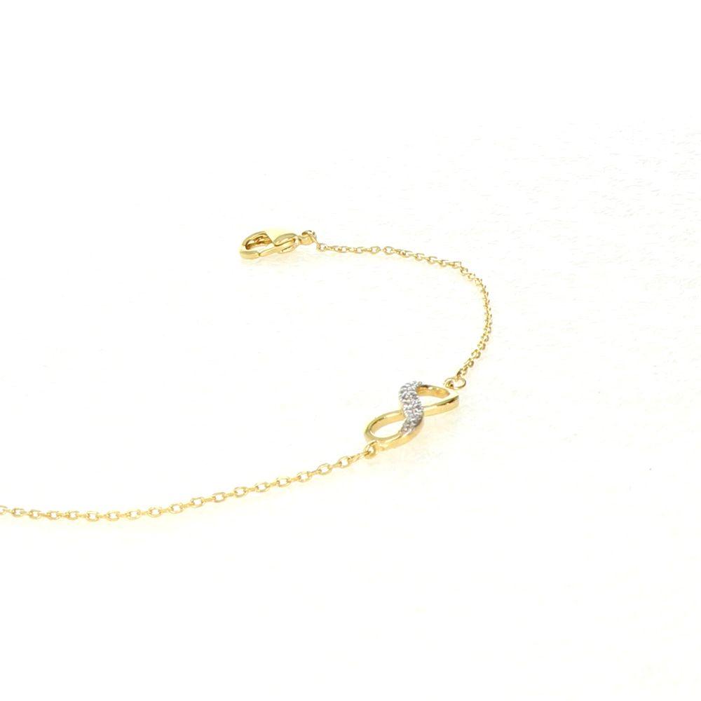 Bracelet Plaqué Or Infini Oz 2