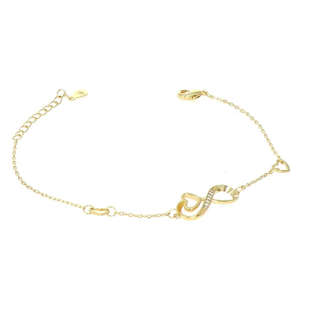 Bracelet Plaqué Or infini coeur Or