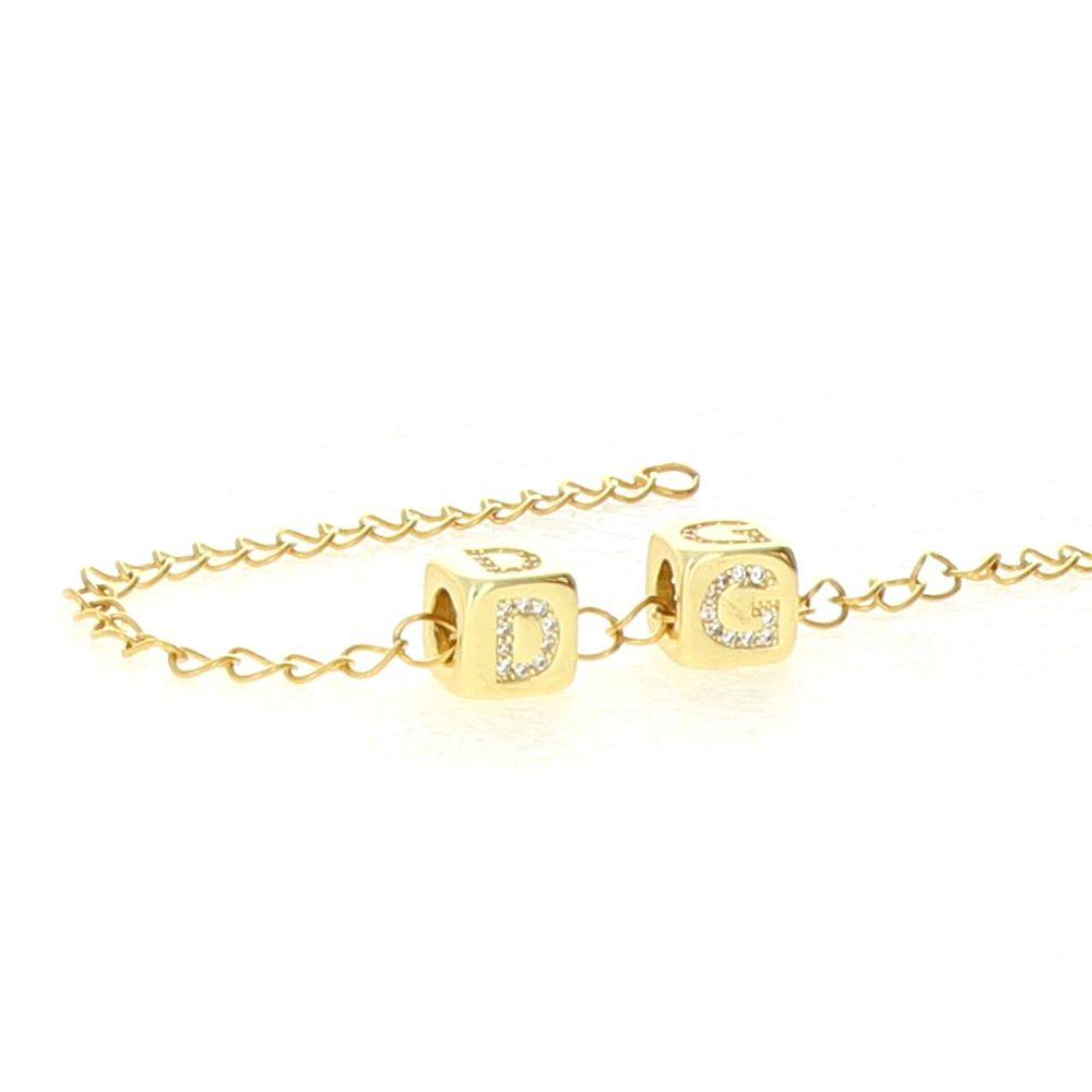 Bracelet maille acier doré 2