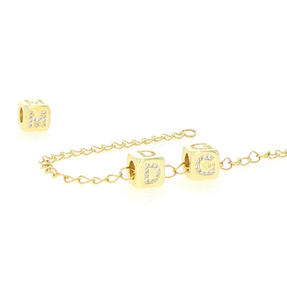Bracelet maille acier doré ensemble