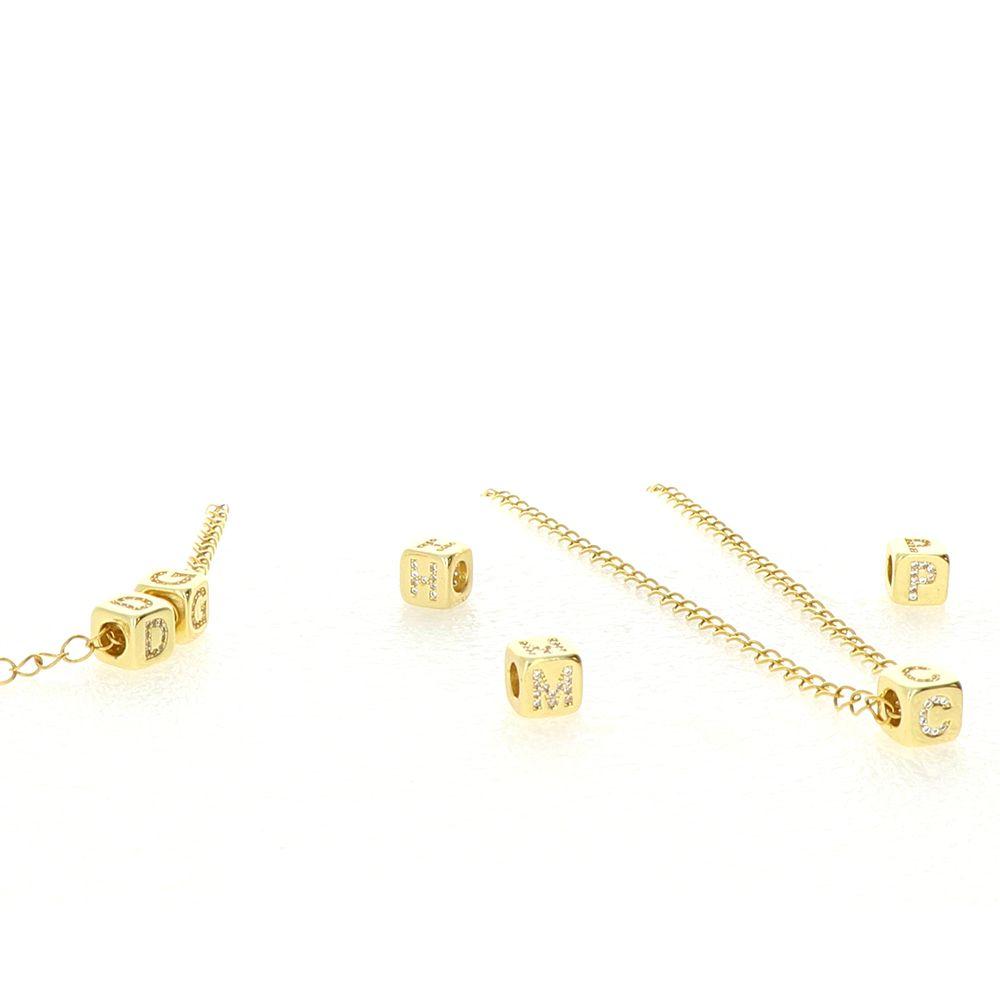 Chaine Acier doré maille 4mm 60cm ensemble