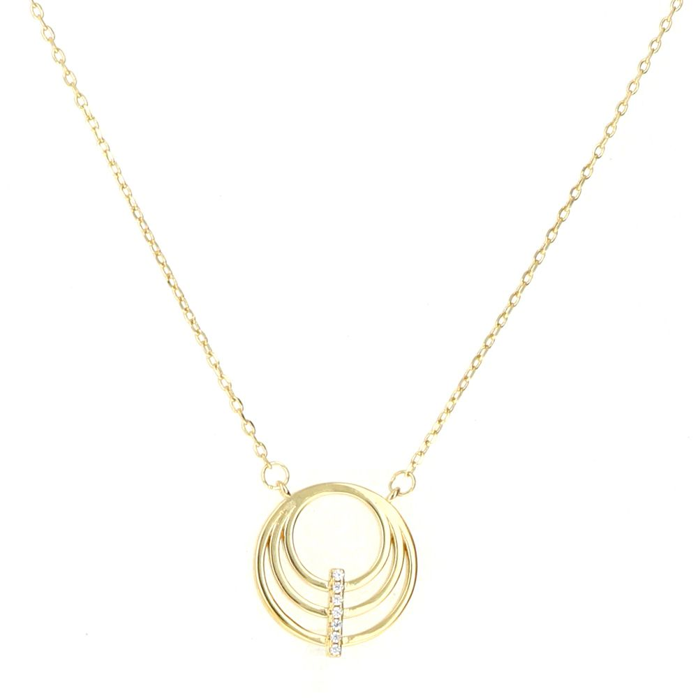 Collier Plaqué Or motif 3 cercles Oz