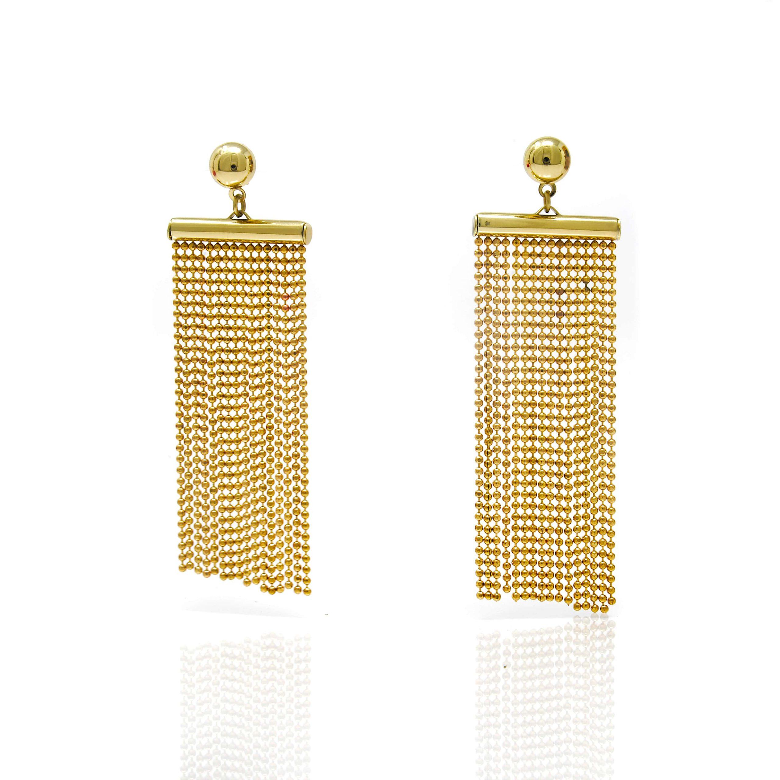 Boucle d oreilles multifils acier doré_-min