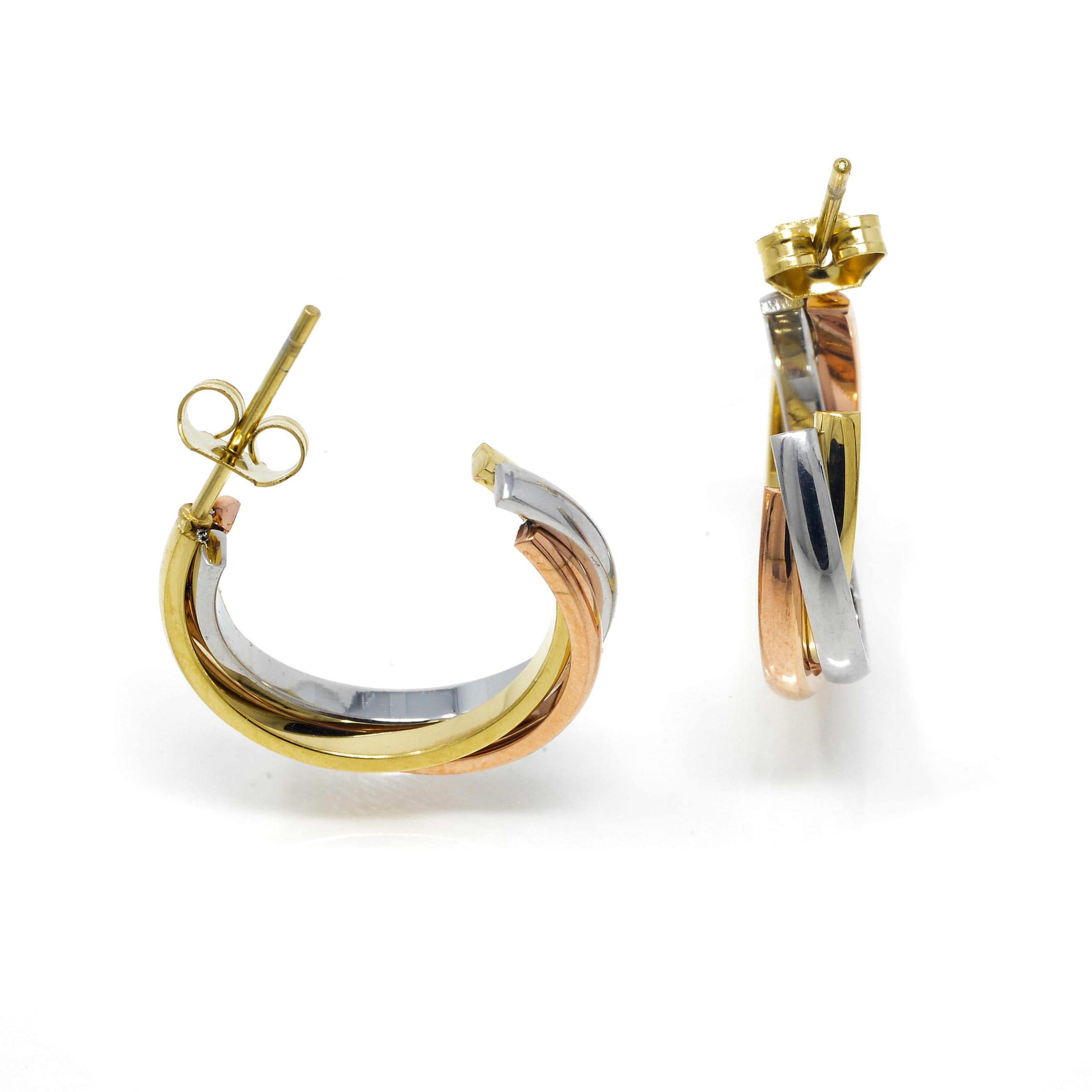 Boucles d oreilles demi créole 3 rangs croisés-7-min