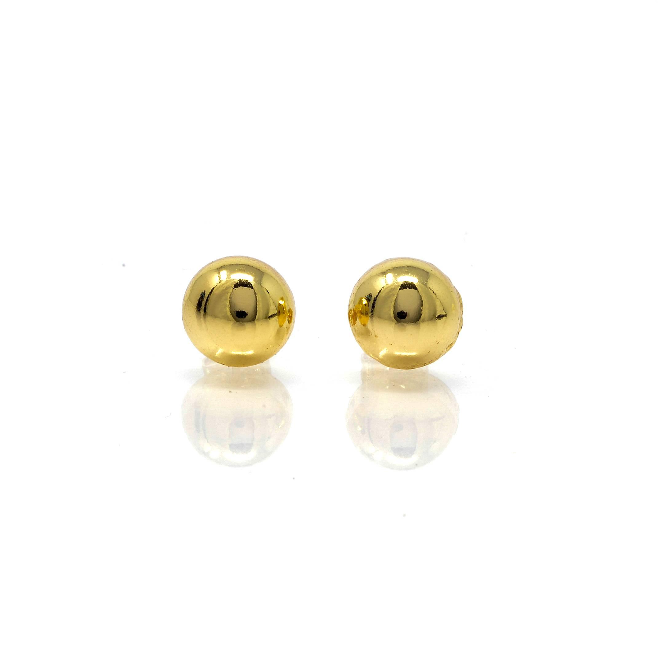Boucles d oreilles une demi boule10MM-2