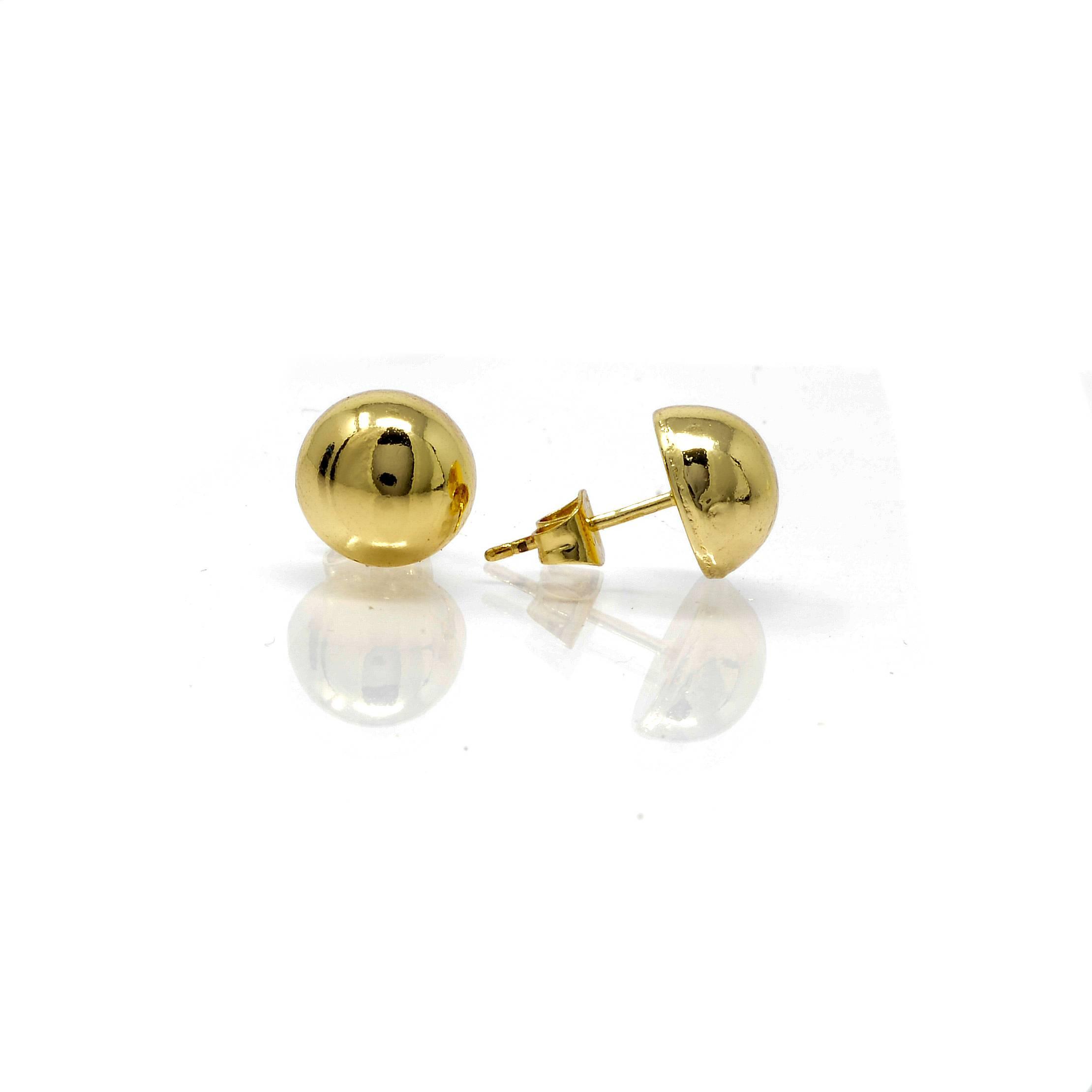 Boucles d oreilles une demi boule10MM-3