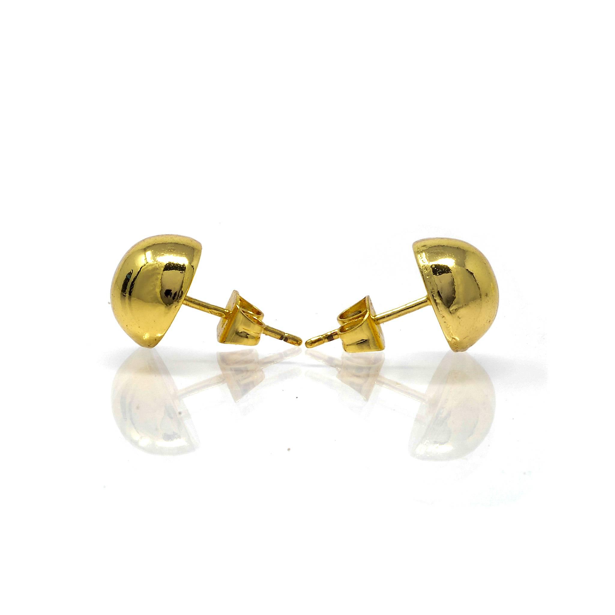Boucles d oreilles une demi boule10MM-4