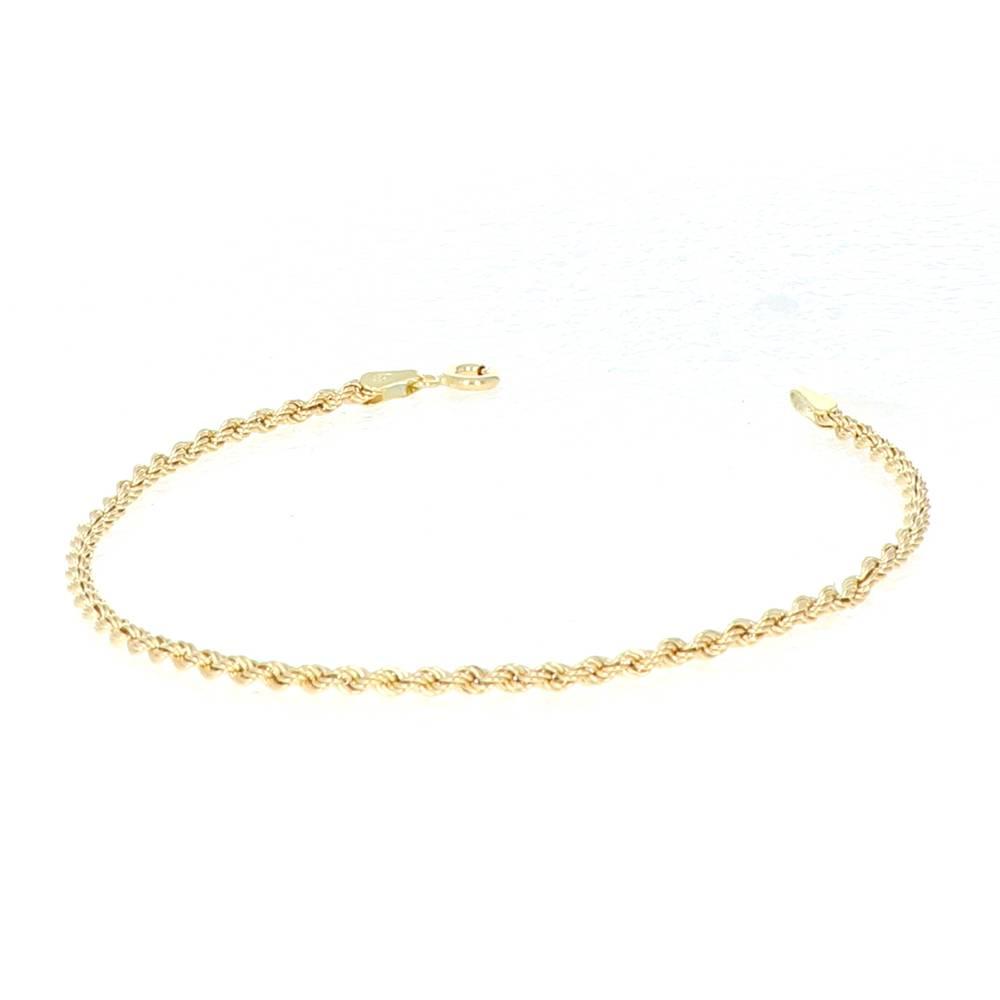 Bracelet Corde Or 18 Carats 2mm 18cm 2