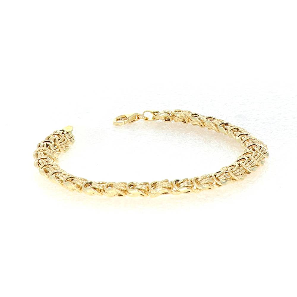 Bracelet Rosette Or 18 Carats lisse-sable