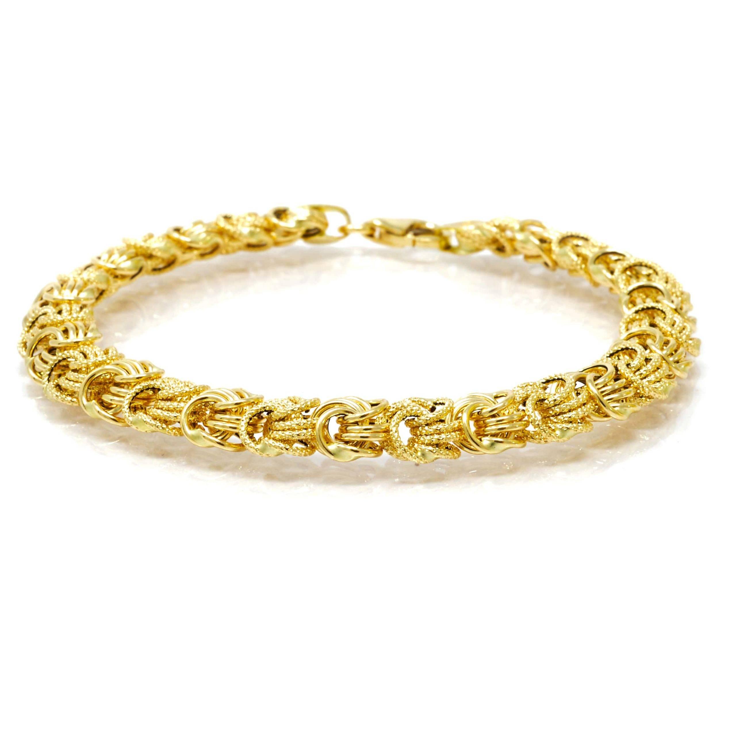 Bracelet rosette or 18 CARATS lisse-sable-3-min
