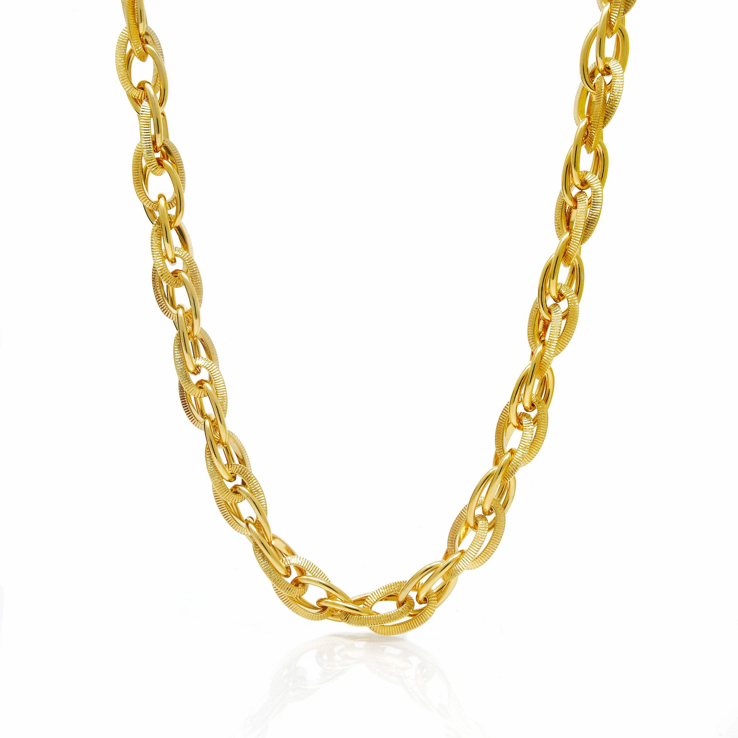 Bracelet torsadé plaqué or 25 CM-2 (1)