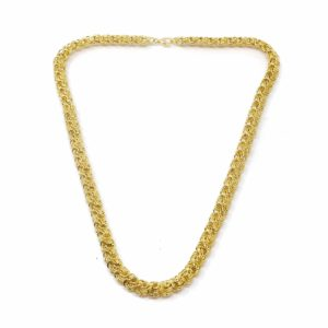 Collier rosette or 18 CARATS lisse-sable-4-min