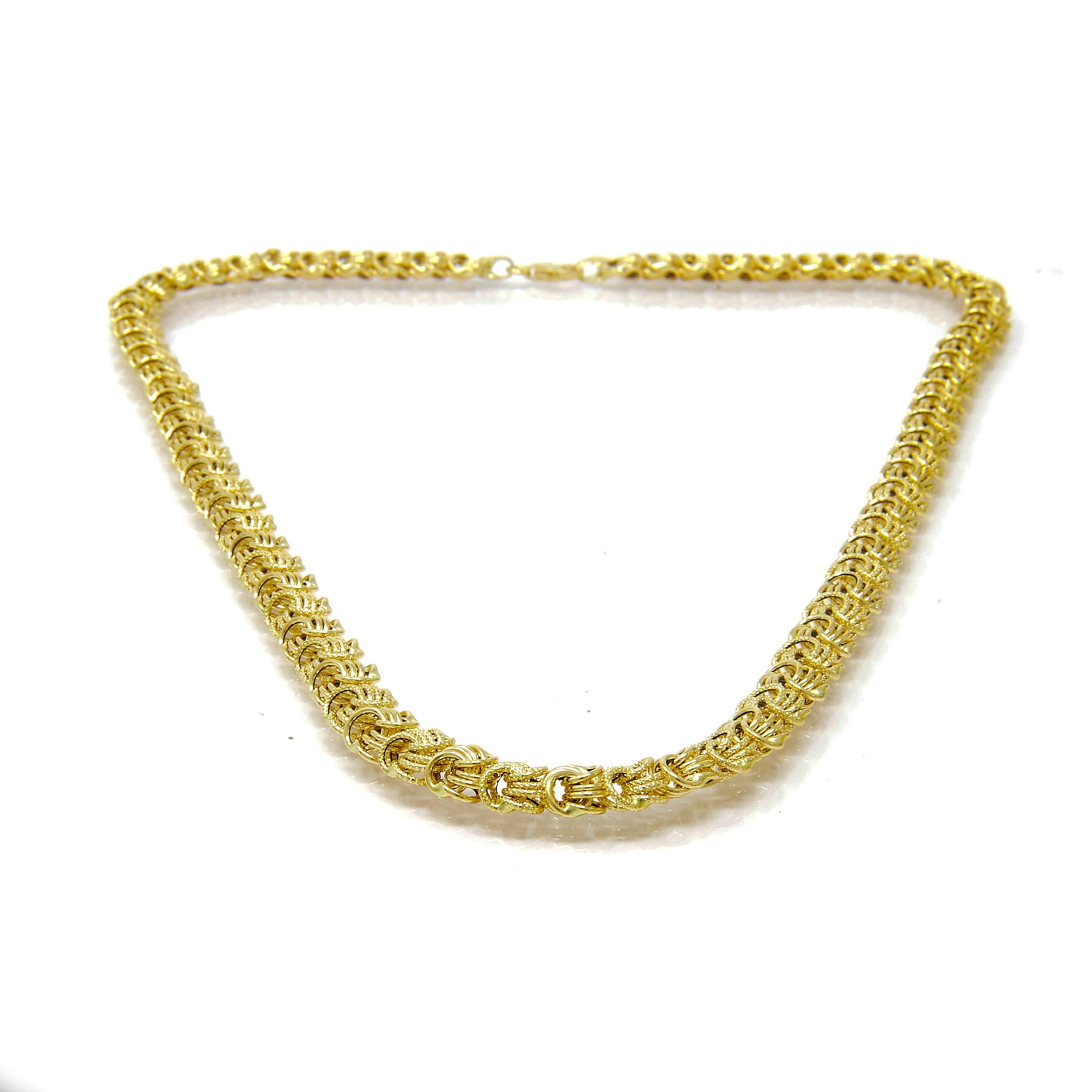 Collier rosette or 18 CARATS lisse-sable-5-min