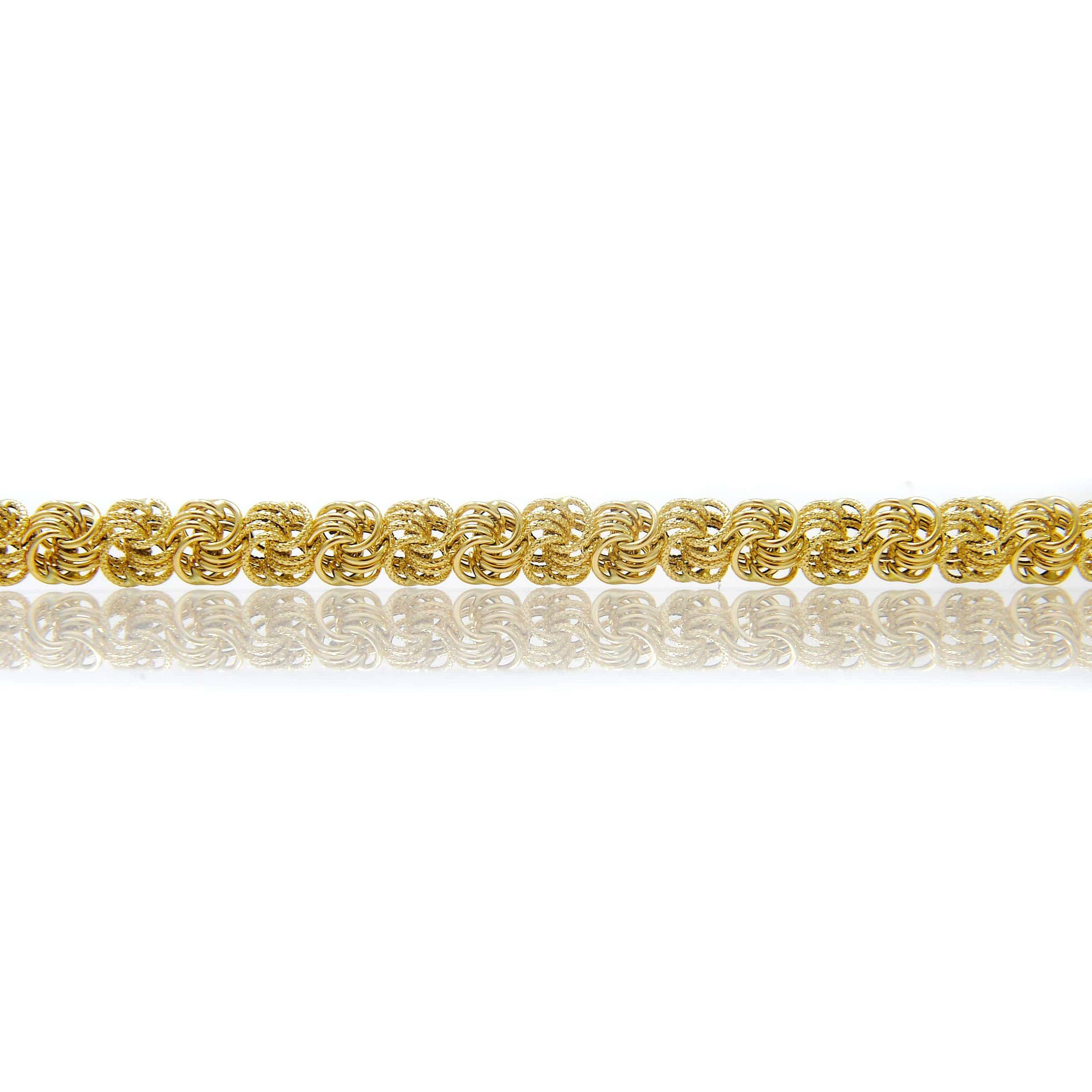 Collier rosette or 18 CARATS lisse-sable-6-min